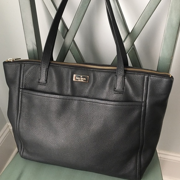 778d15dbe1 kate spade Handbags - ♤ KATE SPADE Large Black Pebbled Leather Tote ♤️